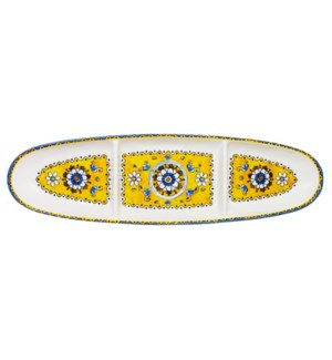 "16"" OVAL SECT TRAY BENIDORM"