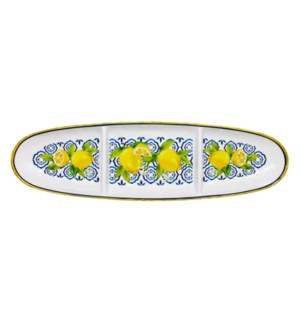 "16"" OVAL SECT TRAY PALERMO"