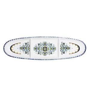 "16"" OVAL SECT TRAY SORRENTO"