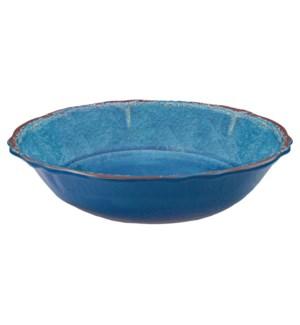 ANTIQUA SALAD BOWL BLUE