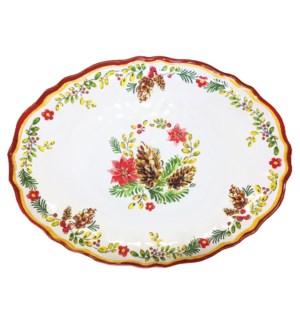 """16"""" Oval Platter Noelle"""