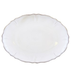 "16"" OVAL PLATTER RUSTICA ANTIQUE WHITE"