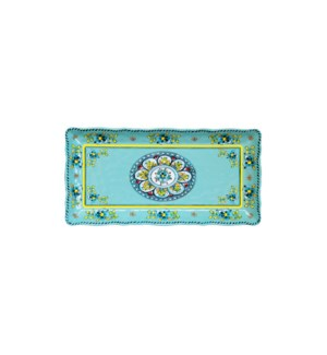 "10"" x 5"" BISCUIT TRAY MADRID TURQUOISE"