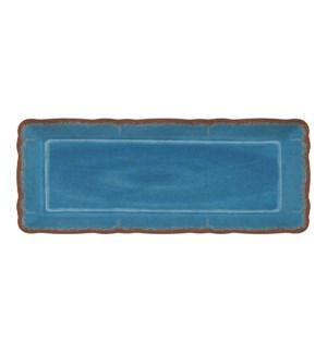 ANTIQUA BLUE BAGUETTE TRAY