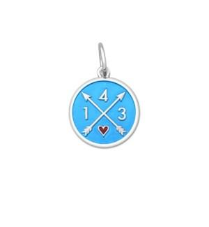 143 I Love You Light Blue Small