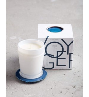 10 oz. boxed candle w/coaster - Voyager  TESTER