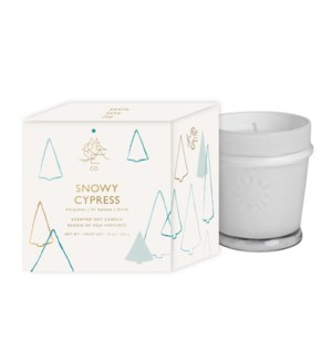 10 oz. Holiday Boxed Candle - Snowy Cypress