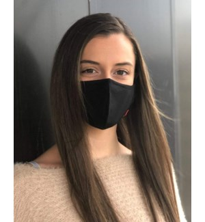100% Cotton Non-Medical Mask with filter-Solid Black