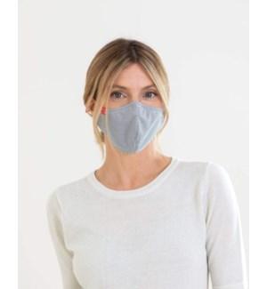 100% Cotton Non-Medical Mask Reversible - Black Stripe-Lavender Chambray