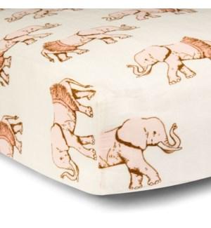 Bamboo Cotton Crib Sheet Tutu Elephant