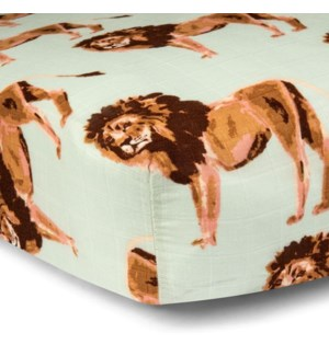 Bamboo Cotton Crib Sheet Lion