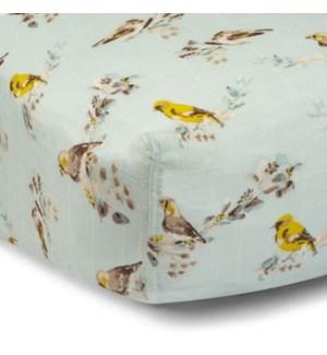 Bamboo Crib Sheet Blue Bird