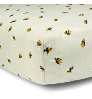 Bamboo Crib Sheet Bumblebee