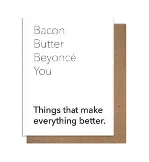 Bacon Butter Bey Greeting Card