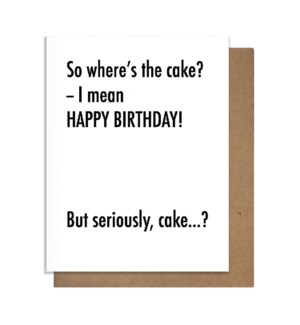 Bday Cake Greeting Card