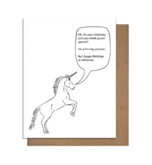 Bday Uni CLEAN Greeting Card
