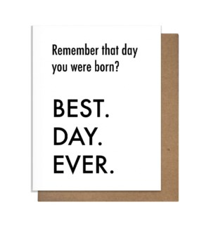 BDE Born Greeting Card