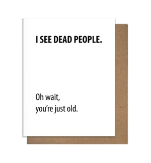 Dead People Greeting Card