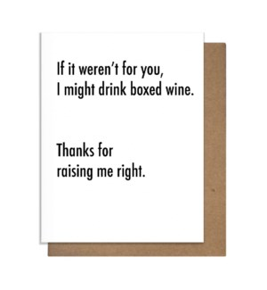 Box Wine Greeting Card