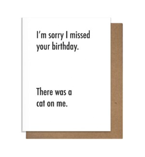 Cat On Me Greeting Card