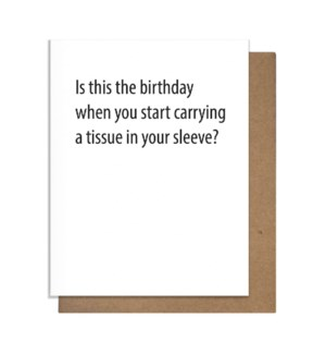 Bday tissue Greeting Card