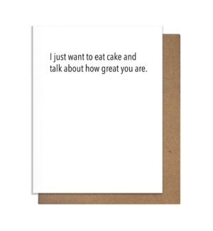 Cake & Great Greeting Card