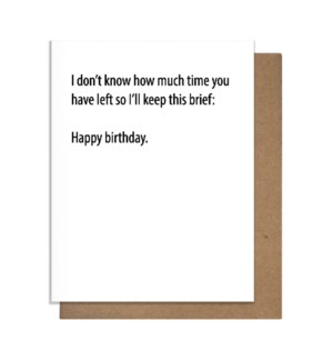 Brief Birthday Greeting Card