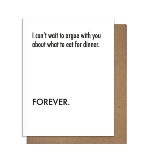 Argue Dinner Greeting Card