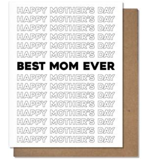 Best Mom Card Greeting Card