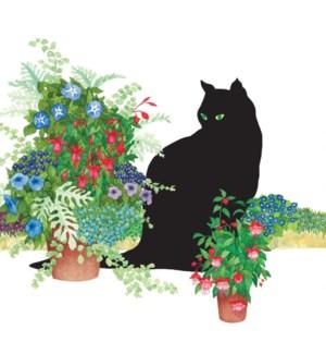 $BEV- BLACK CAT FLOWER POTS