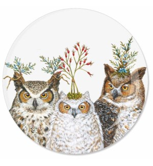 "7"" APPETIZER PLATE - HOLIDAY HOOT"