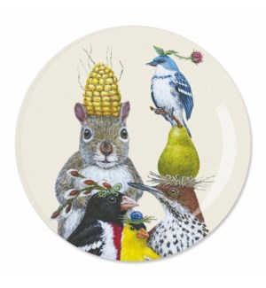 "7"" APPETIZER PLATE - PARTY UNDER THE FEEDER"