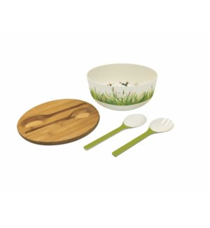 BAMBOO SALAD BOWL-MEADOW BUZZ