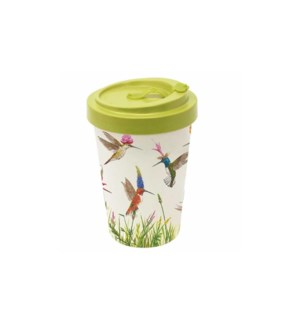 BAMBOO TRAVEL CUP W/LID- MEADOW BUZZ