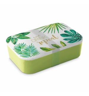 BAMBOO BOWL LUNCH BOX - EAT DRINK, REPEAT (THE JUNGLE)