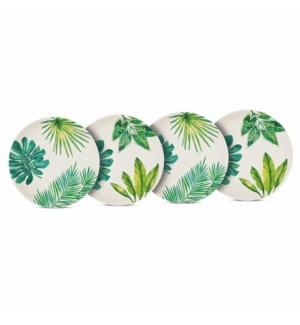 BAMBOO PLATE SET (4)-ST. TROPEZ (THE JUNGLE)