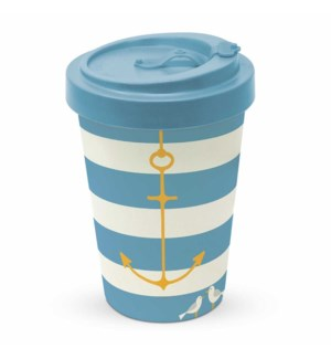 BAMBOO TRAVEL CUP W/LID- ANCHOR