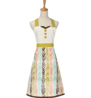 Feather Ikat Printed Apron