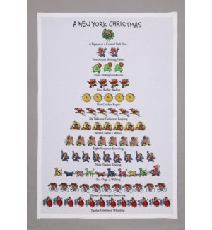 A New York Christmas Print Kitchen Towel