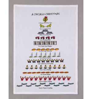 A Chicago Christmas Print Kitchen Towel