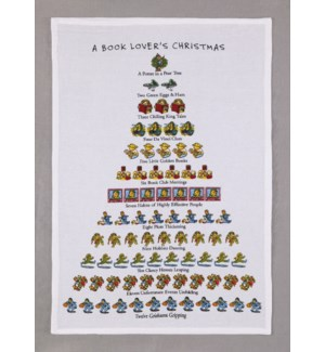 A Book Lover's Christmas Print Kitchen Towel