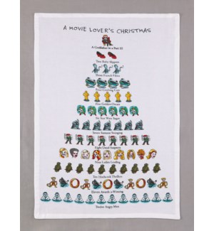 A Movie Lover's Christmas Print Kitchen Towel