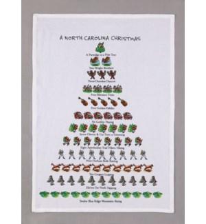 A North Carolina Christmas Print Kitchen Towel