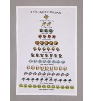 A Colorado Christmas Print Kitchen Towel