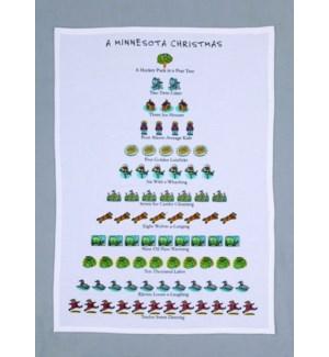 A Minnesota Christmas Print Kitchen Towel
