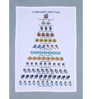 A Maryland Christmas Print Kitchen Towel