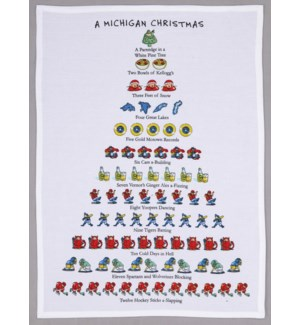 A Michigan Christmas Print Kitchen Towel