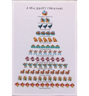 A New Jersey Christmas Print Kitchen Towel