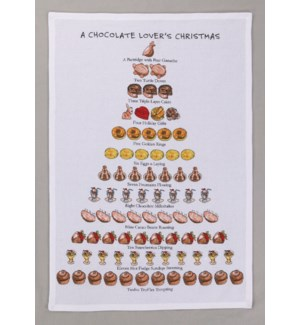 A Chocolate Lover's Christmas Print Kitchen Towel