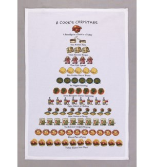 A Cook's Christmas Print Kitchen Towel